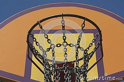 Steel Chain Basketball Net Stock Photo - Image: 56563702