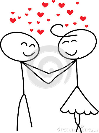 Stick Figure Love Stock Illustration  Image 61455489
