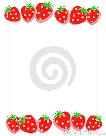 Strawberry Border Frame Stock Photos Image 5259283