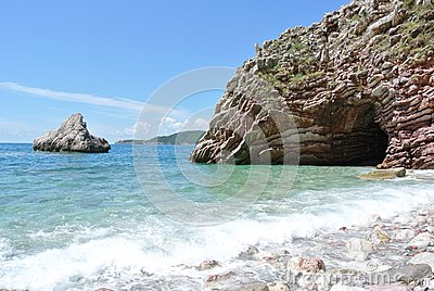 summer coastal landscape - rocky