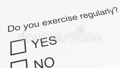 Survey Question And Answer: Do You Exercise Regularly