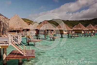 Tahiti Huts Royalty Free Stock Images  Image 3763689