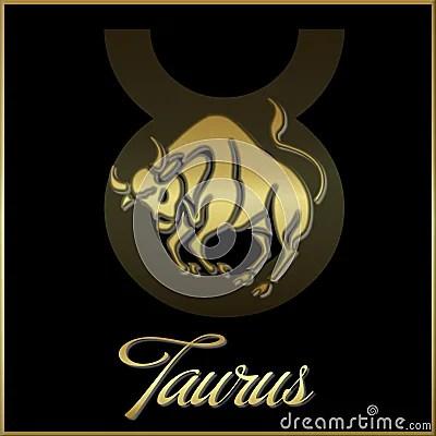 Taurus Zodiac Star Sign Royalty Free Stock Photo Image
