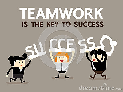 Teamwork Is The Key To Success Stock Vector Image 57066195