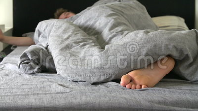 Teenage Boy Asleep In Bed Stock Video Video Of Medium