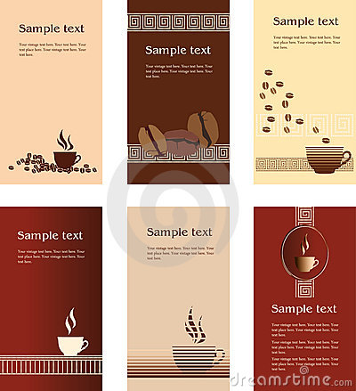 Template Designs Of Business Card For Coffee Shop Stock Photography Image 8327562