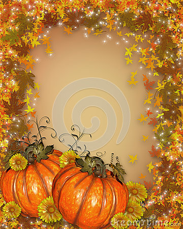 Thanksgiving Autumn Fall Background Royalty Free Stock