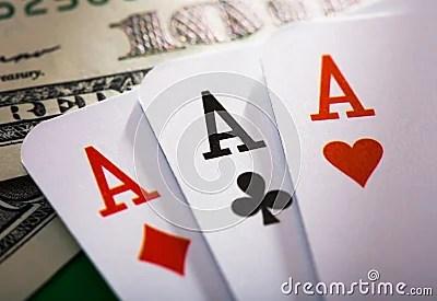 Three Aces Stock Photos Image 2209303