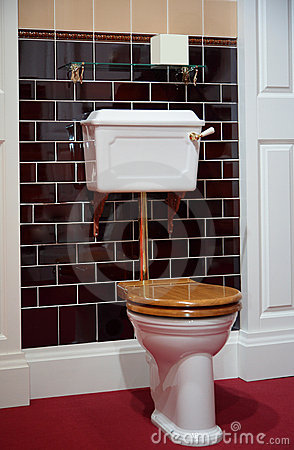 Toilet In Oldfashioned Style Royalty Free Stock Photo  Image 9156905