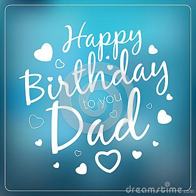 Typography Vector Happy Birthday To You Dad Card Template