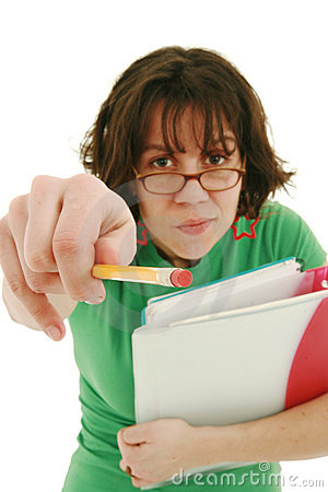 Unhappy Teacher Stock Image  Image 8125481