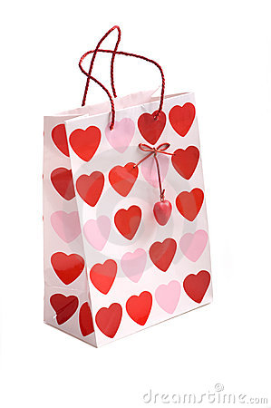 Valentines Gift Bag Royalty Free Stock Photos Image