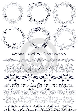 Vector Design Toolkit Includes: 6wreaths, 7borders And
