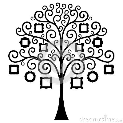 Vector Family Tree Template Stock Vector Image 76657996