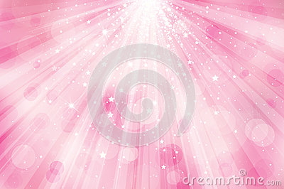 Vector Glitter Pink Background With Rays Of Light Stock