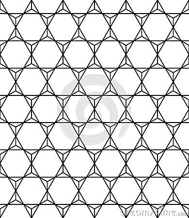 Vector Modern Seamless Geometry Pattern Triangles, Black