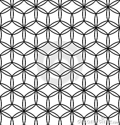 Vector Modern Seamless Sacred Geometry Pattern Flower Of