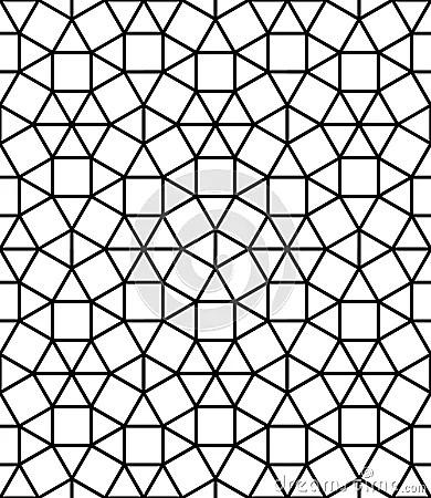 Vector Modern Seamless Sacred Geometry Pattern Mosaic