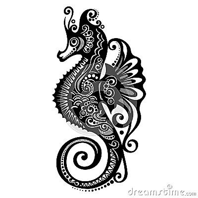 Vector Sea Horse Stock Image Image 36236581
