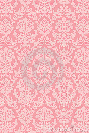 Pink Rose 3d Wallpaper Victorian Wallpaper New Color Royalty Free Stock Image