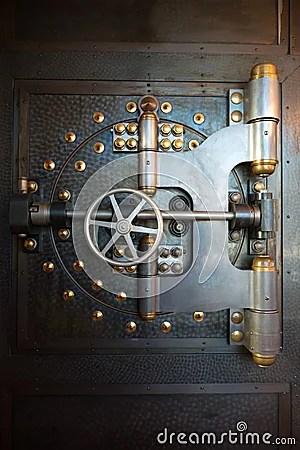 Vintage Bank Vault Door Safe Stock Photo  Image 50233678