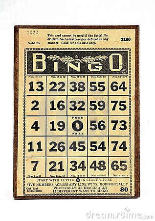 Vintage Bingo Card Stock Photo Image 14531620