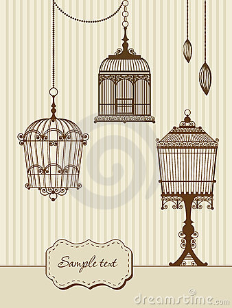 Vintage Bird Cages Royalty Free Stock Photography Image