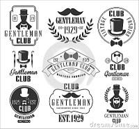 Vintage Gentlemen Club Logos Set Stock Vector - Image ...