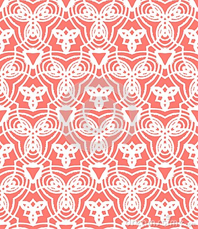Vintage Fall Wallpaper Vintage Vector Art Deco Pattern In Coral Red Stock Image