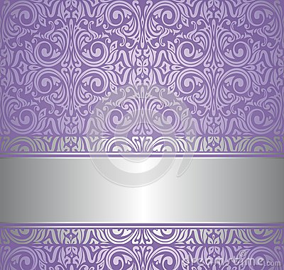 Violet And Silver Luxury Vintage Wallpaper Stock Images  Image 31985434