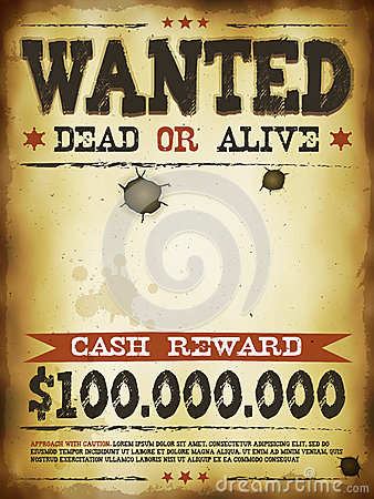 Wanted Vintage Western Poster Stock Vector  Image 41021366