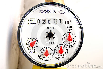 Water Meter Stock Photo  Image 16926730