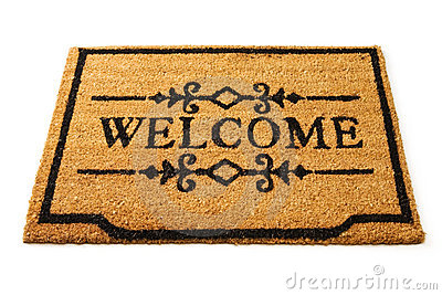 Welcome Mat Royalty Free Stock Images  Image 18236809