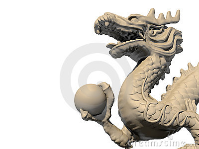 white wooden dining chairs adirondack from recycled plastic chinese dragon statue holding a ball stock images - image: 18725914