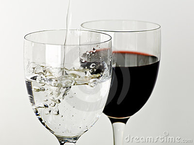 Wine And Water Stock Photography  Image 12864032