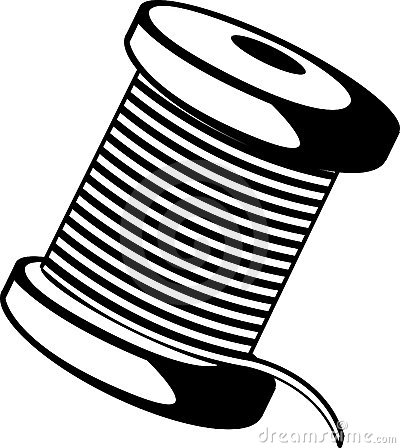 Wire Or Thread Spool Vector Illustration Royalty Free