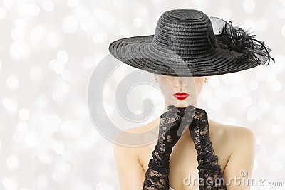 Beautiful Girl With Hat Wallpaper Woman In Hat And Gloves Fashion Model Beauty Portrait