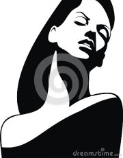 woman head and hair