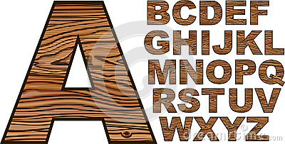 Download Wooden Font Stock Photos - Image: 27220723