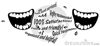 Word Of Mouth Marketing Communication Illustration Stock