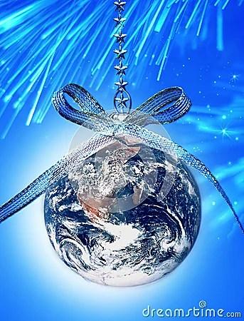 World Christmas Globe Earth Stock Photography Image