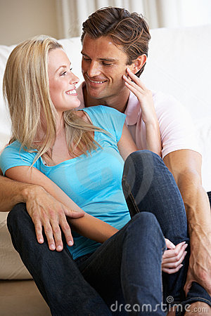 Young Couple Posing Indoors Stock Photography - Image
