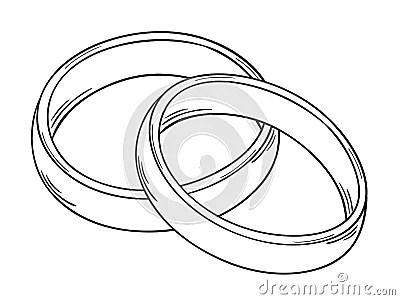 Zwei Ringe Vektor Abbildung  Bild 39122168