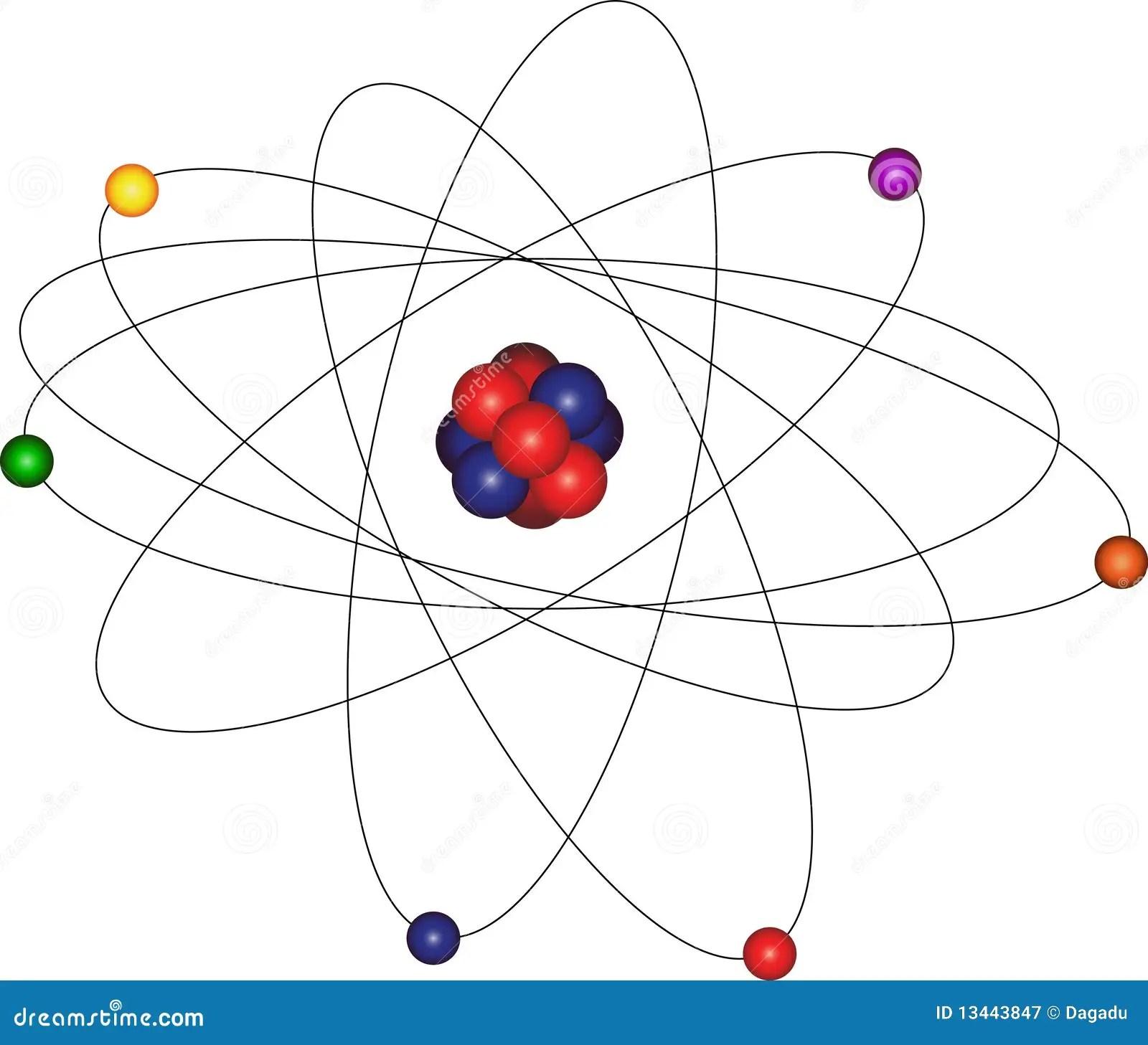 Atomo Com Orbita Do Eletron Fotografia De Stock Royalty