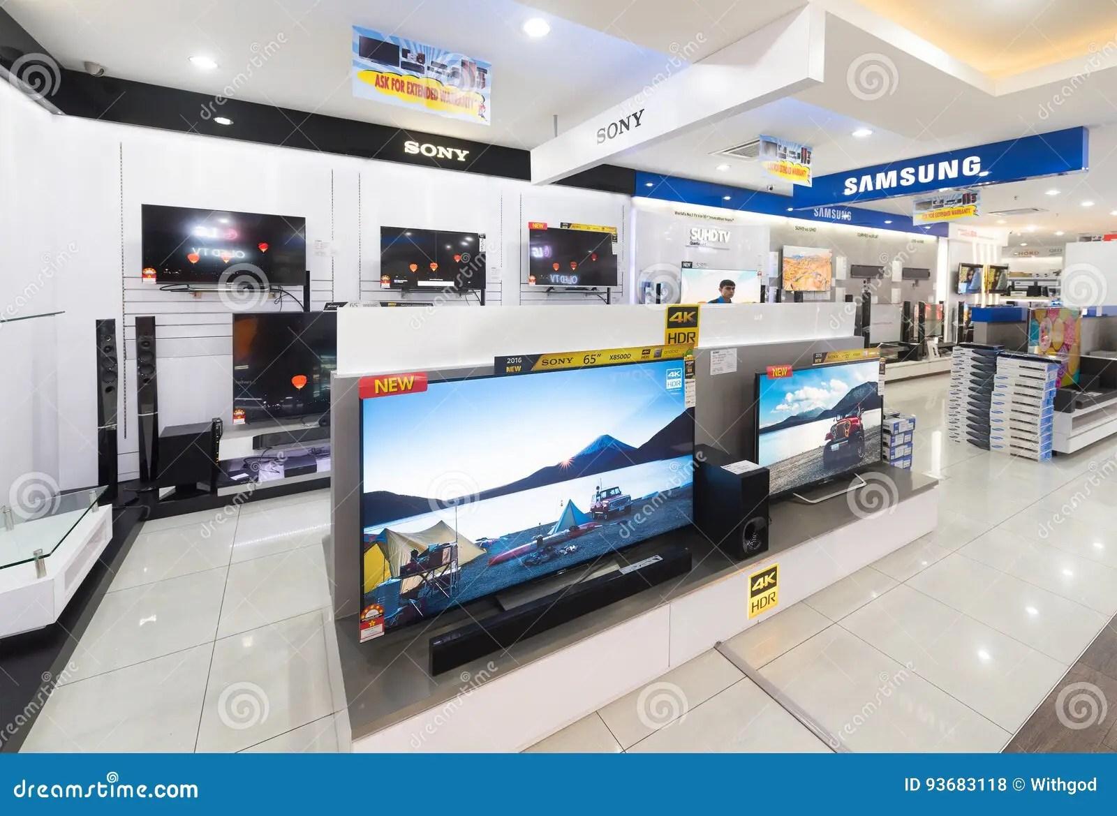 ecrans de sony et de samsung tv a vendre photo stock editorial image du appareils transmissions 93683118