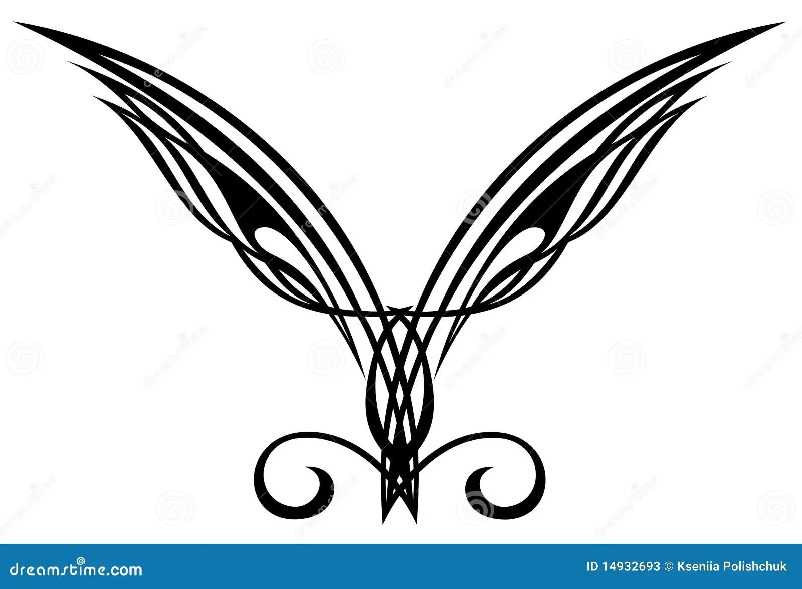 Elements De Conception De Tatouage Ailes Illustration De