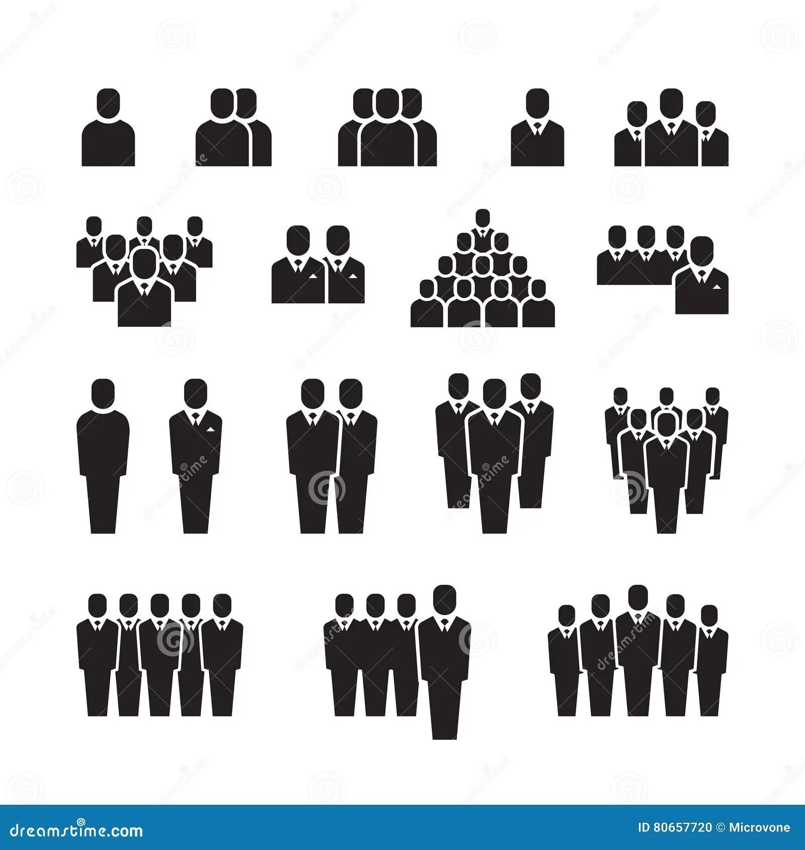 Equipe D Affaires Personnes De Silhouette Employee