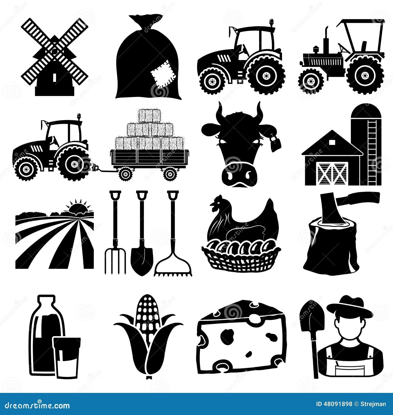 Icone Da Exploracao Agricola Ilustracao Do Vetor