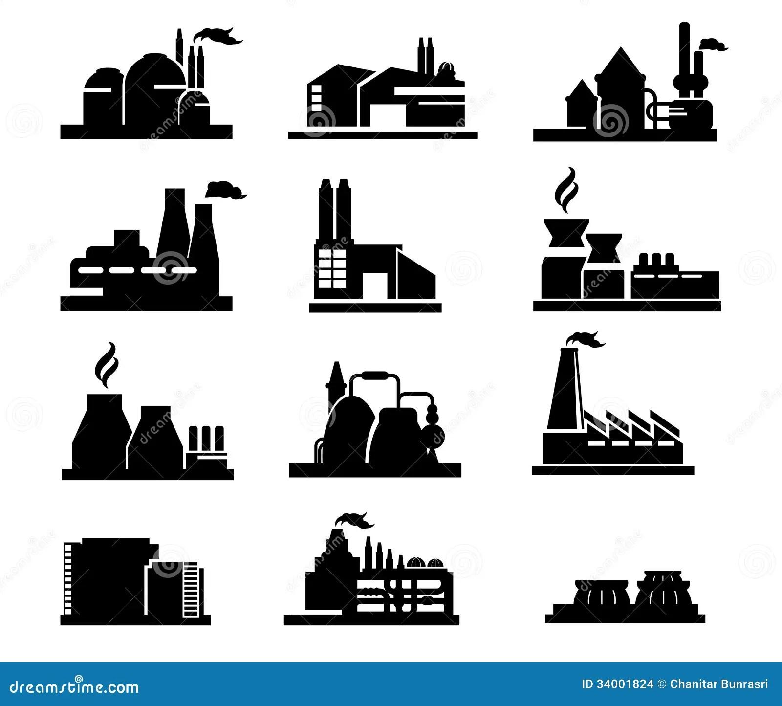 Icone Da Fabrica Ilustracao Do Vetor Ilustracao De Cidade