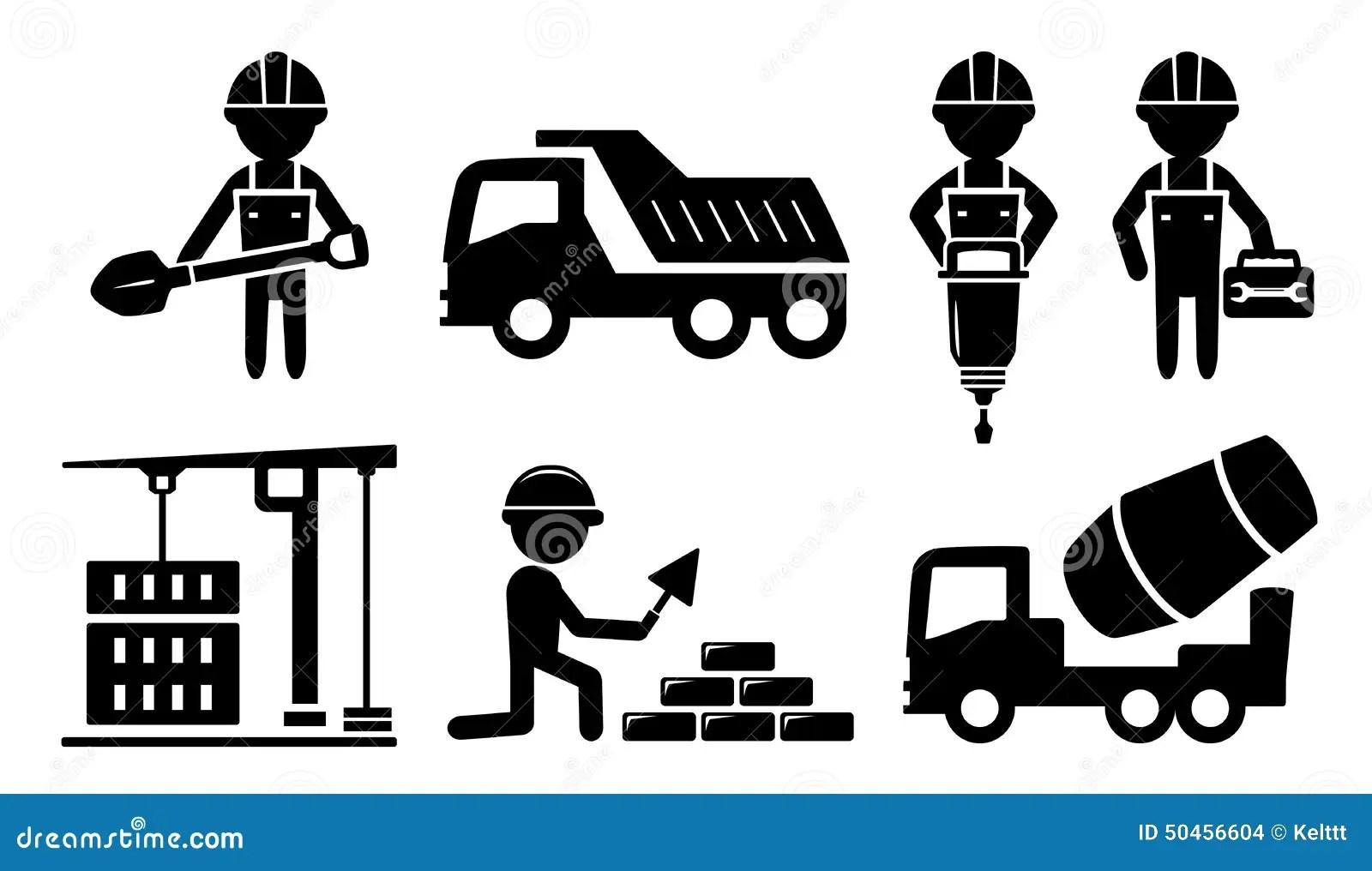 Icone Industrial De Construcao Para A Industria Da